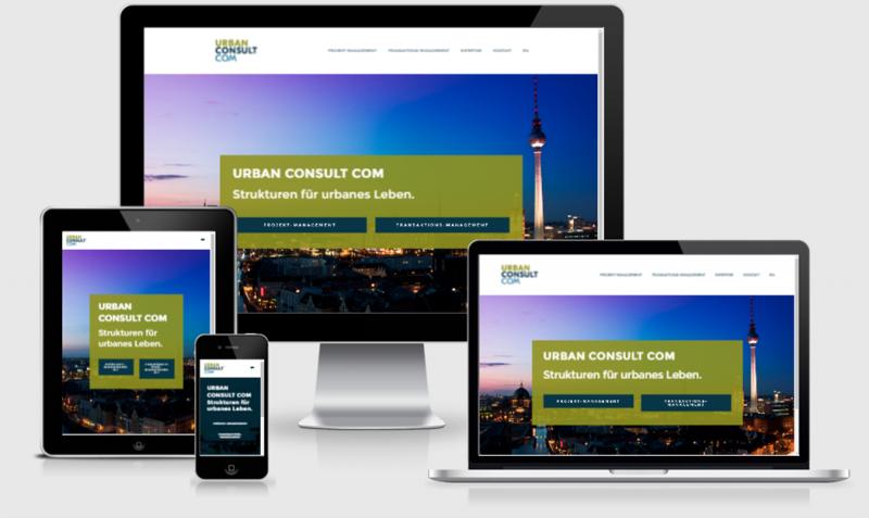 Ocular Online Referenz für Webseitenerstellung Urban Consult