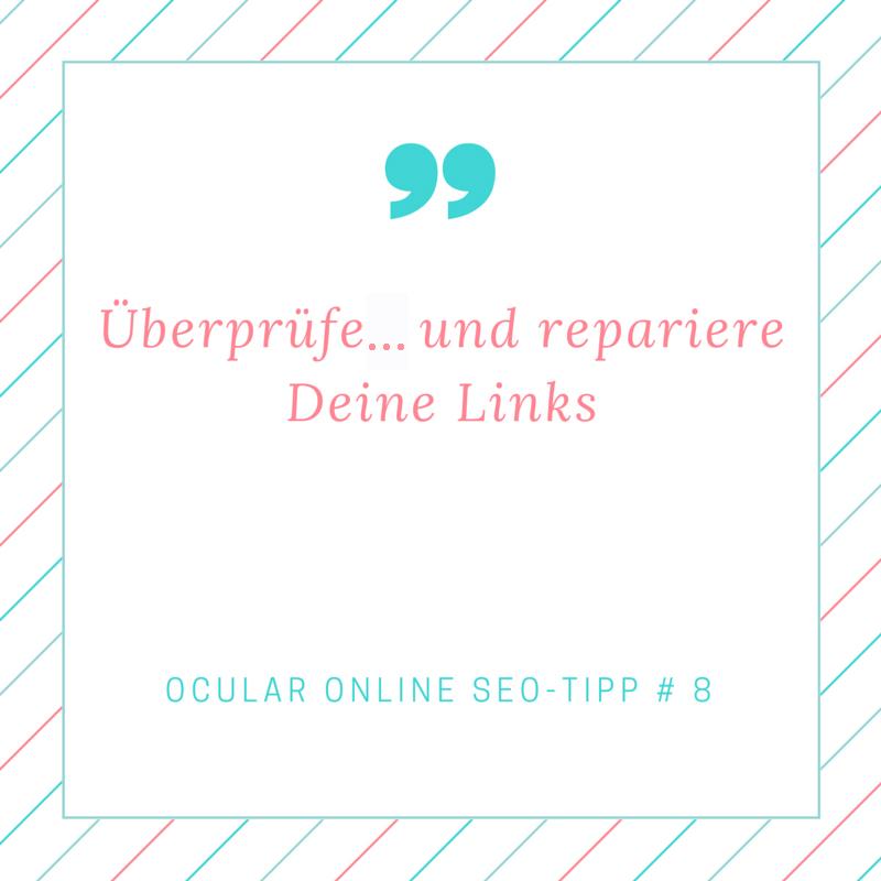 GRafik und Text: Ueberpruefe und repariere deine Links