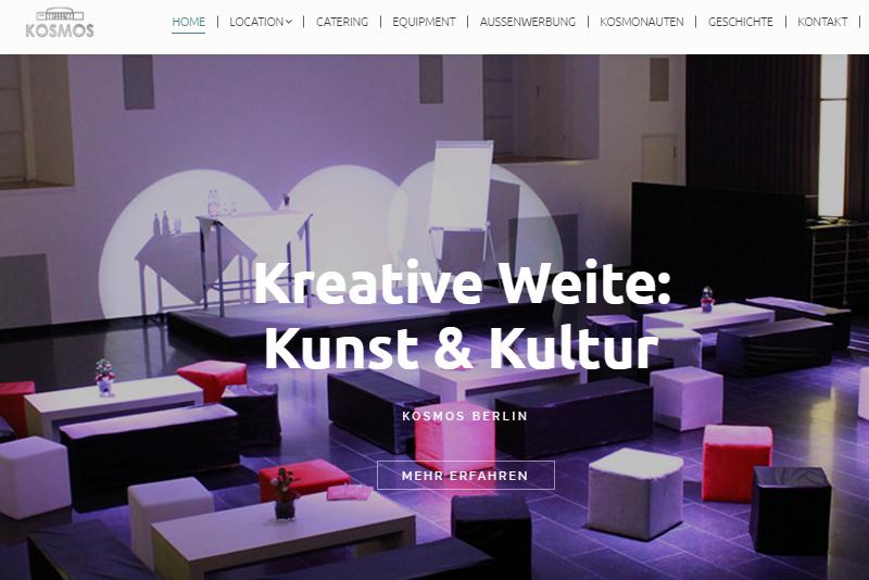 Ocular Online REferenz KOSMOS Berlin Screenshot der Webseite