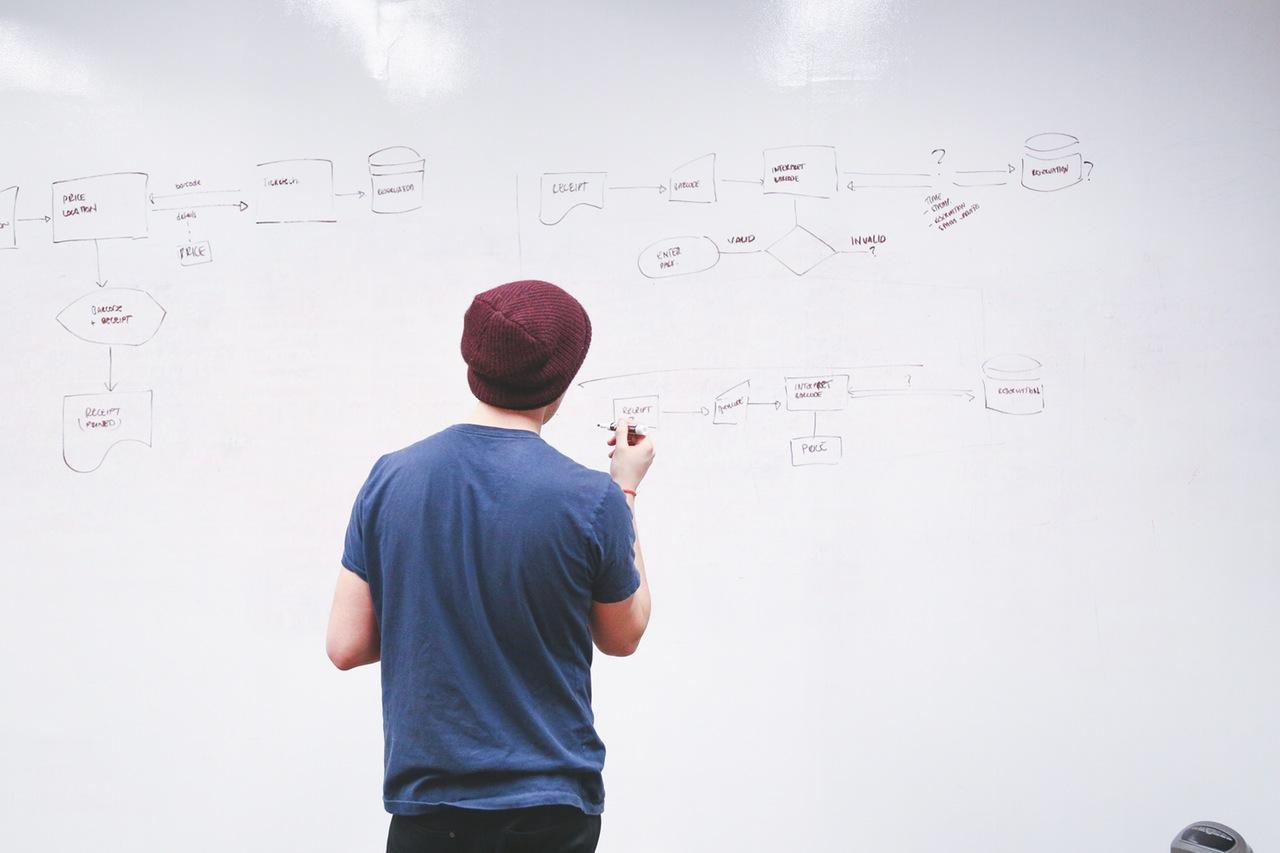 Bild für SEO und Online Marketing Trends Ocular Online: Mann vor White Board
