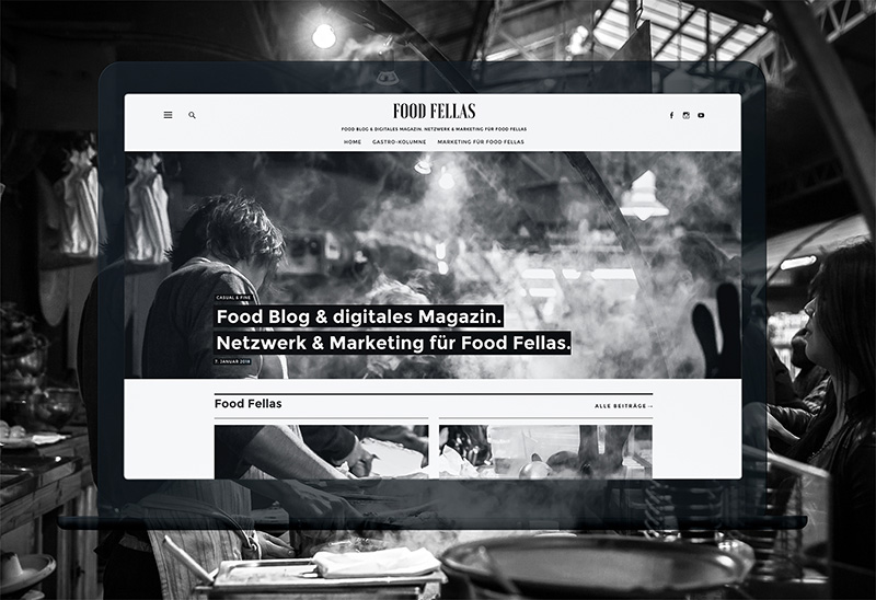 Food Fellas Blog Screenshot | ein Blog von Ocular Online