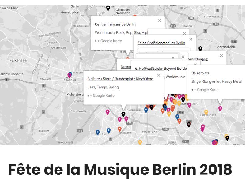Fête de la Musique Website von Ocular Online