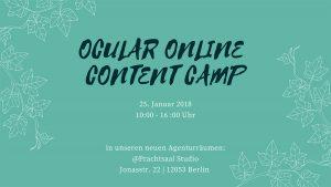 Flyer Ocular Online Content Camp und SEO