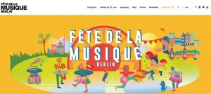 Screenshot der Fete de la Musique Website