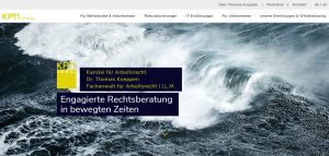 Screenshot der Ocular Online Referenz kpn LEGAL site