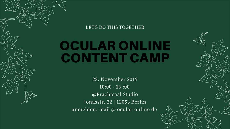 Flyer SEO Content Camp von Ocular Online Web Agentur